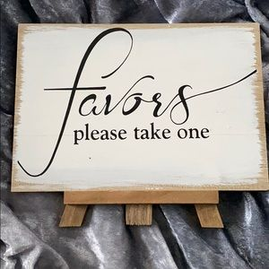 Favors wedding sign